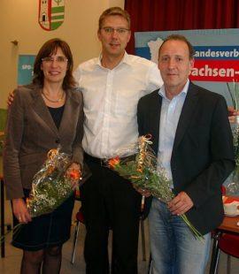 Dr. Ringo Wagner mit seinen Stellvertretern Silke Schindler und Wolfgang Zahn