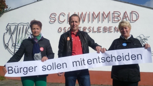 """SPD -OV unterstützte Initiative """"Rettet das Freibad"""" in Oschersleben"""